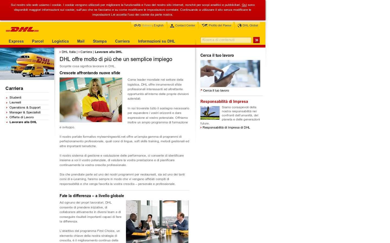 Schermata http://www.dhl.it/it.html