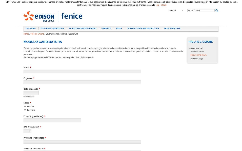 Schermata http://www.edf-fenice.com/