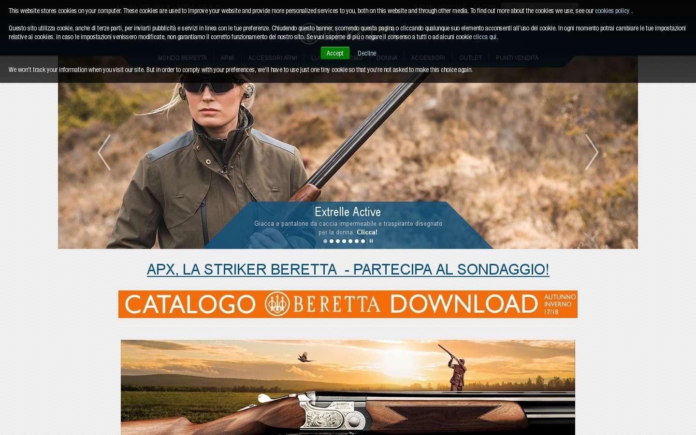 Schermata http://www.beretta.com/it-it/