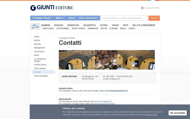 Schermata http://www.giunti.it/