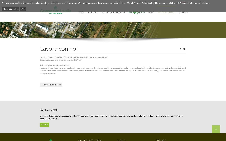 Schermata http://www.conserveitalia.it/