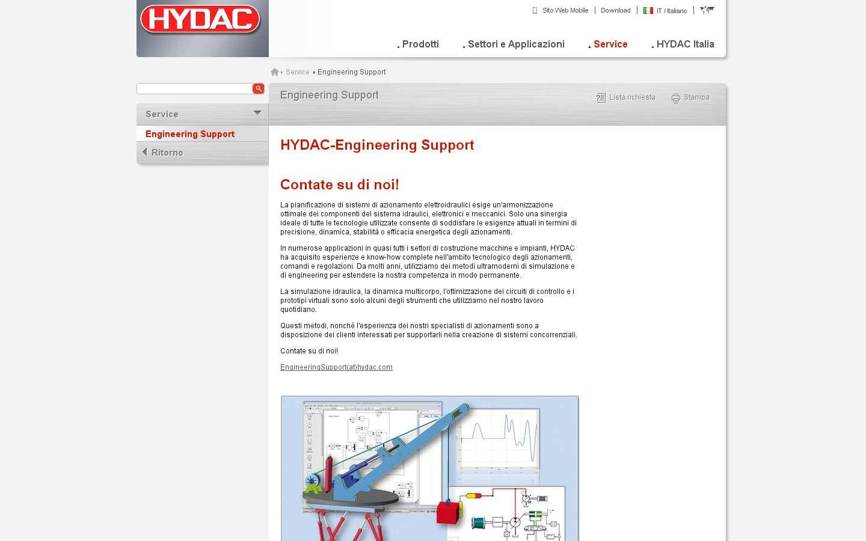 Schermata http://www.hydac.com/