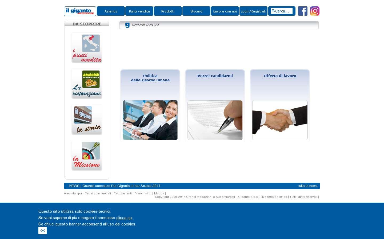 Schermata http://www.ilgigante.it/