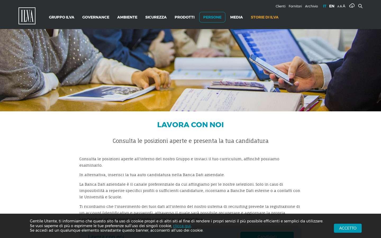 Schermata http://www.gruppoilva.com/it/