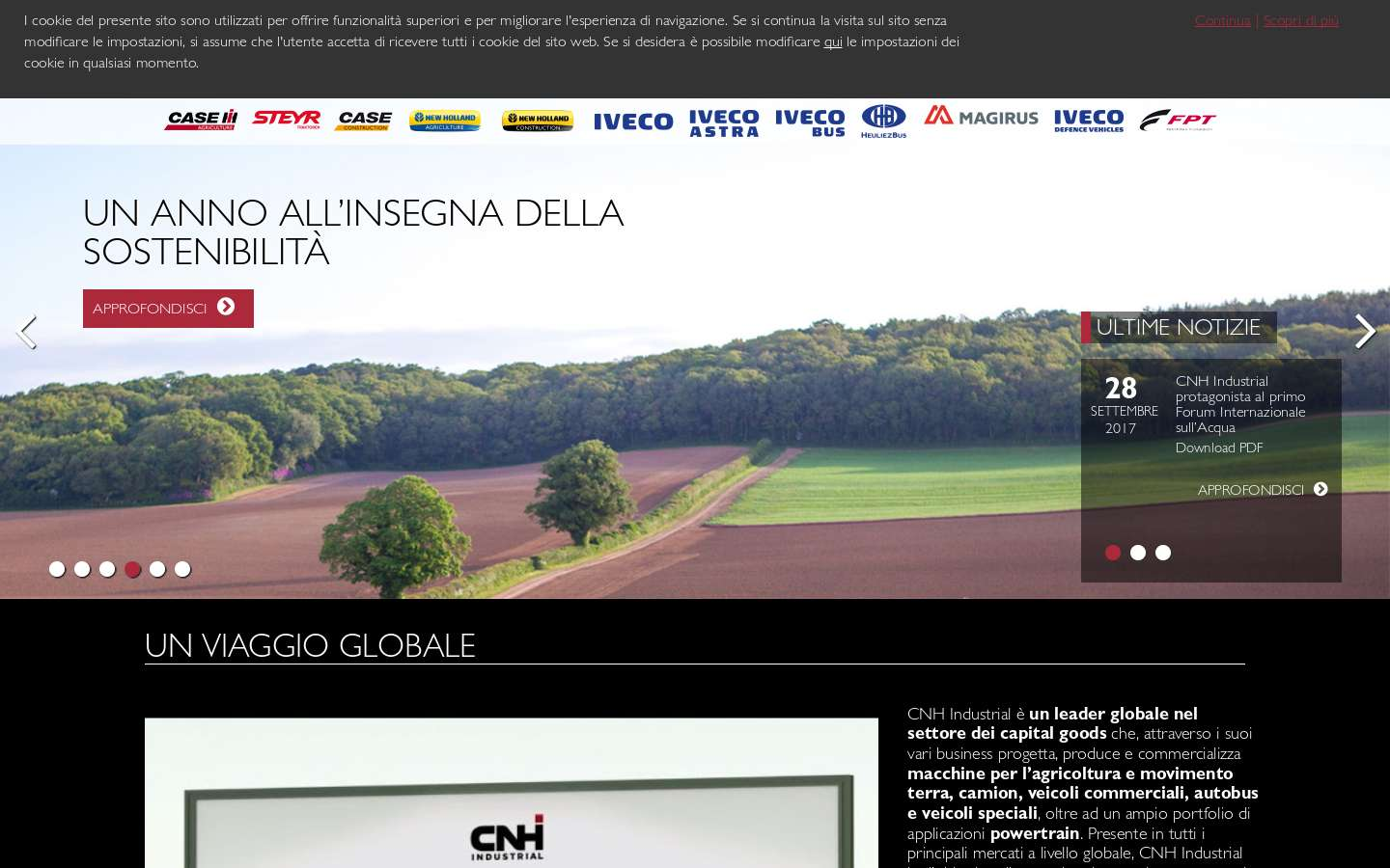 Paginata di http://www.cnhindustrial.com/it-it/Pages/homepage.aspx