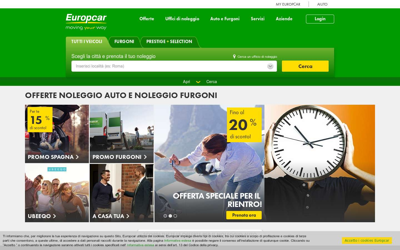 Paginata di https://www.europcar.it/