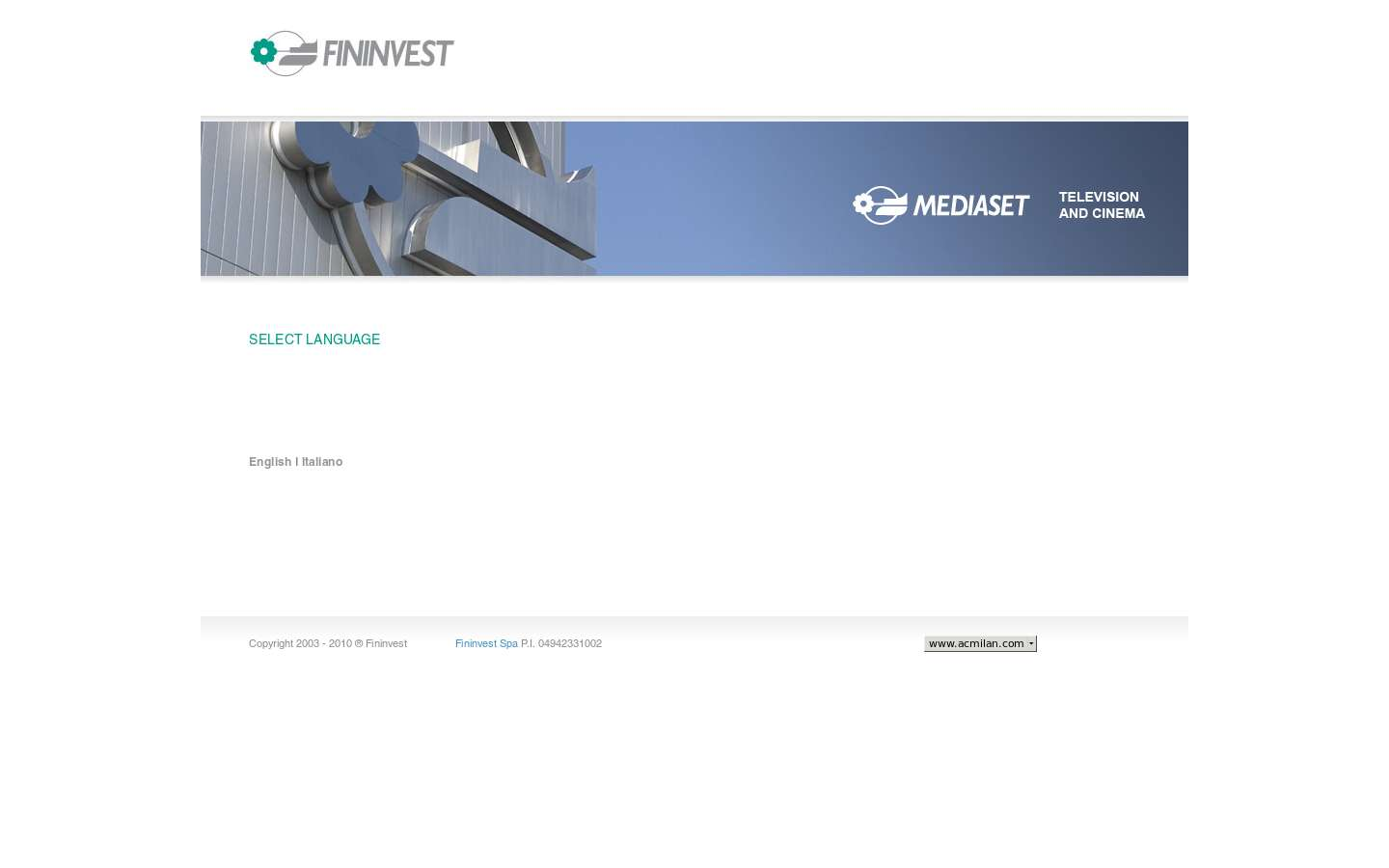 Paginata di http://www.fininvest.it/