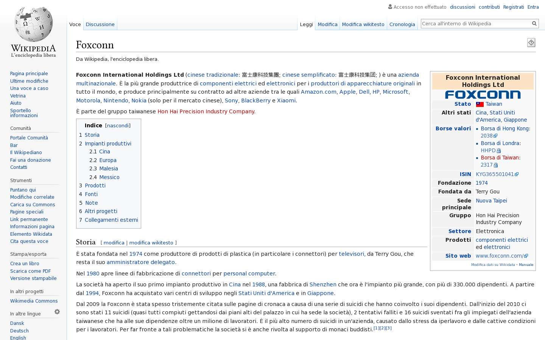 Paginata di https://it.wikipedia.org/wiki/Foxconn
