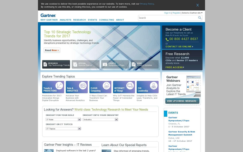Paginata di http://www.gartner.com/technology/home.jsp