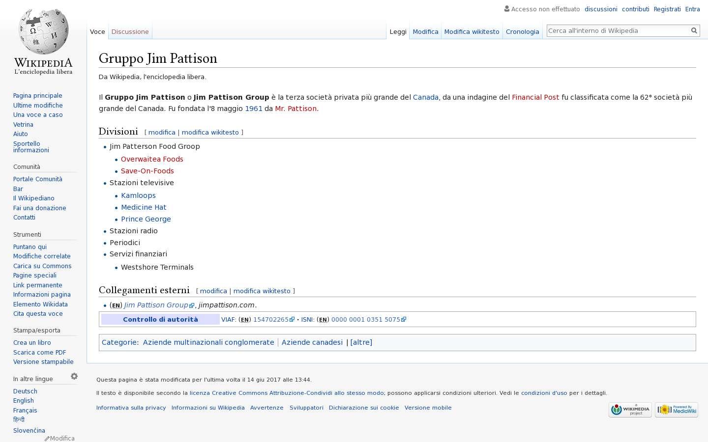 Paginata di https://it.wikipedia.org/wiki/Gruppo_Jim_Pattison