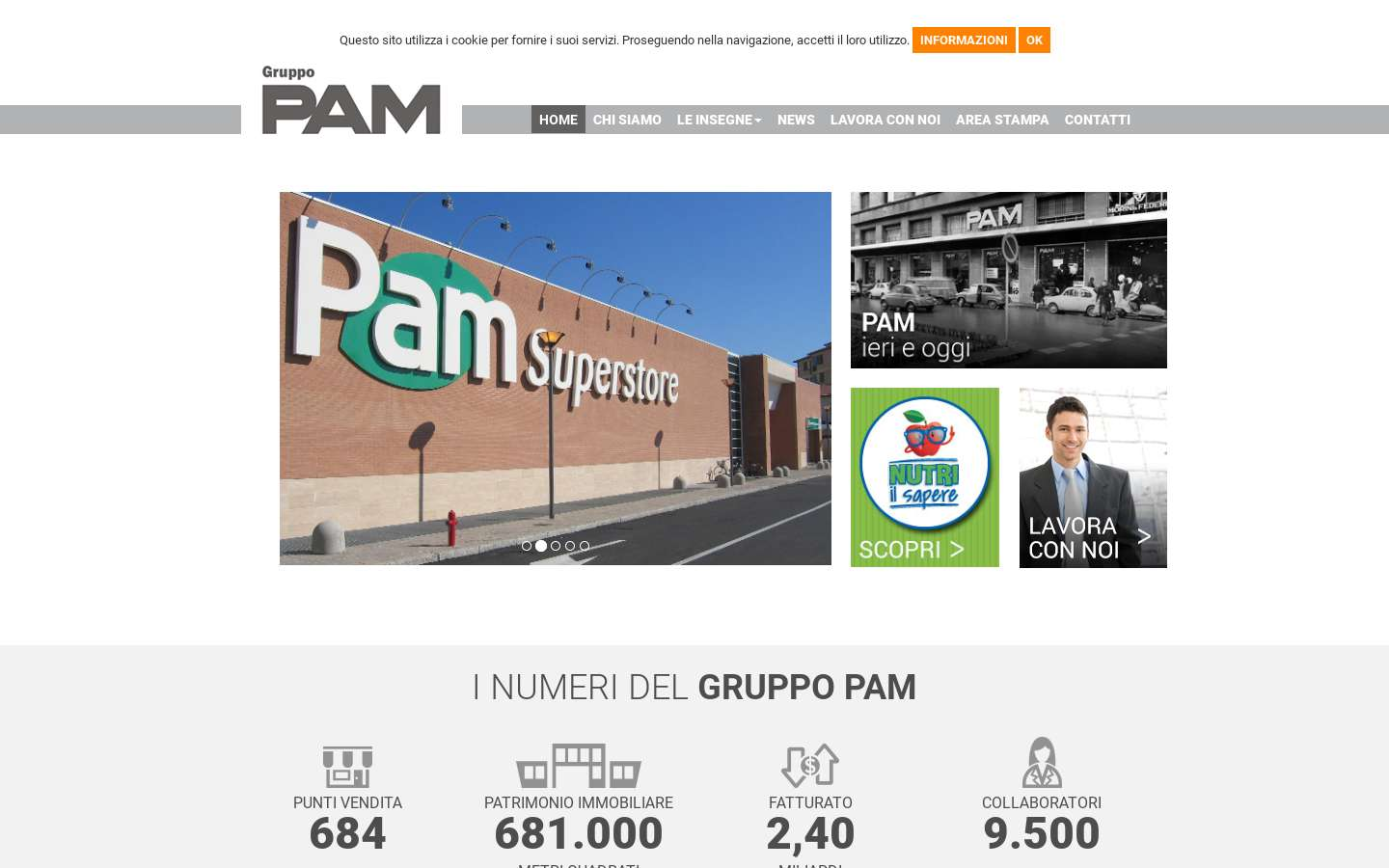 Paginata di http://www.gruppopam.it/
