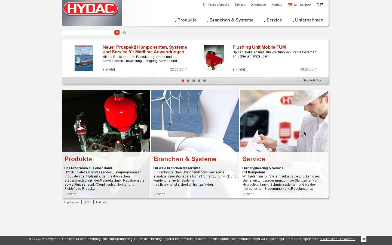 Paginata di http://www.hydac.com/
